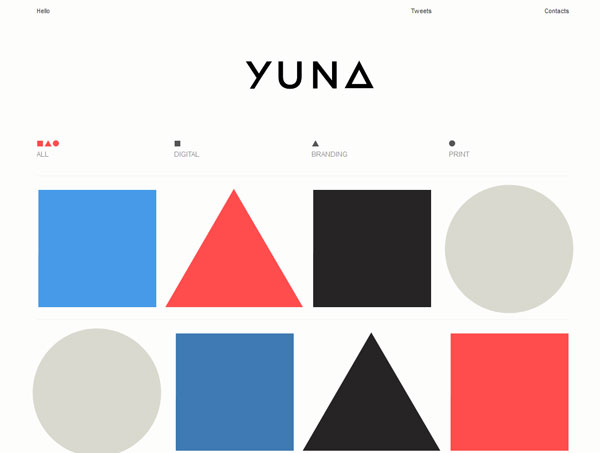 iamyuna 35 Amazing Minimalist Website Layouts