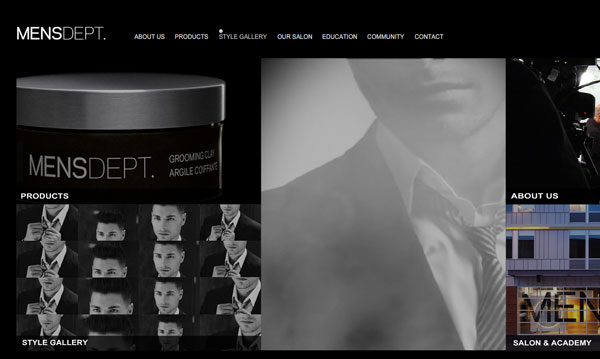 mensdept 35 Amazing Minimalist Website Layouts