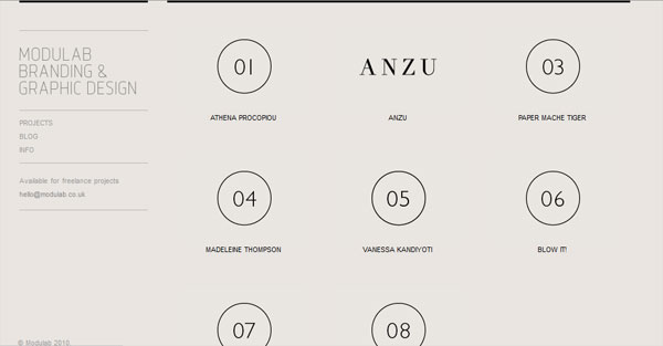 modulab 35 Amazing Minimalist Website Layouts