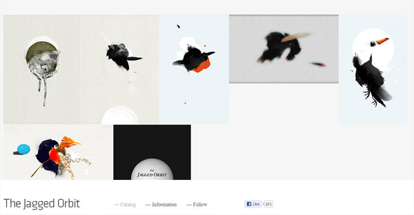 thejaggedorbit 35 Amazing Minimalist Website Layouts