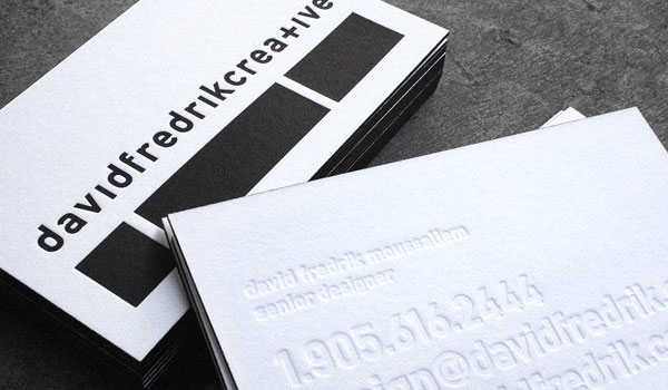 creative letterpress business card 30 Outstanding New Business Cards