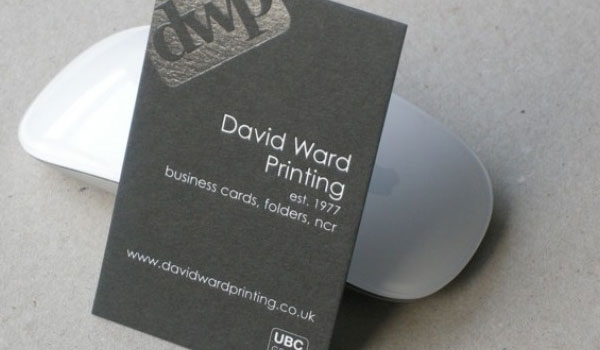 david ward printing 30 Outstanding New Business Cards