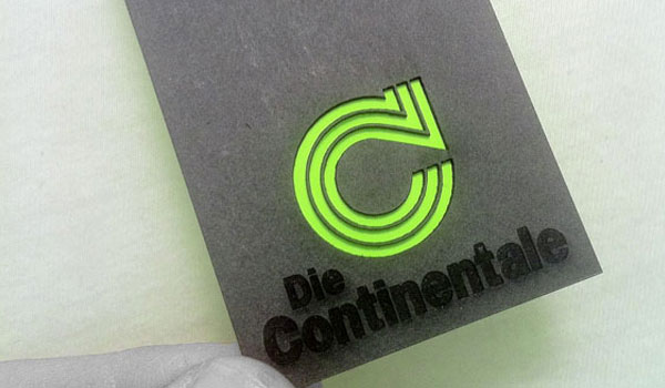 die continentale business card 30 Outstanding New Business Cards
