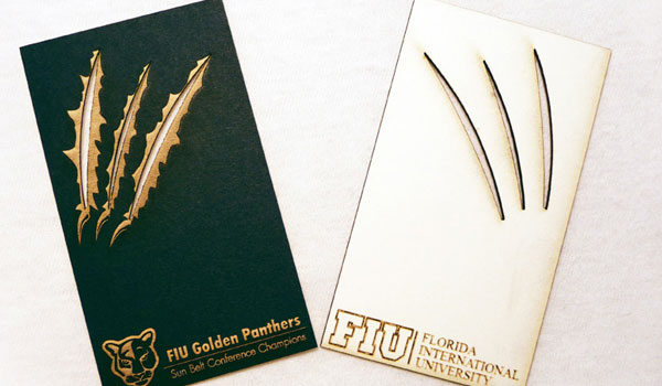 fiu golden panthers business card 30 Outstanding New Business Cards