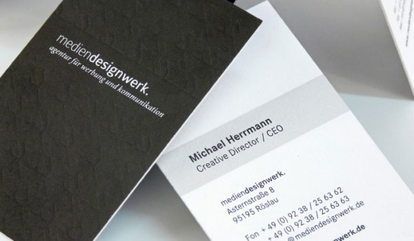 mediendesignwerk 30 Outstanding New Business Cards