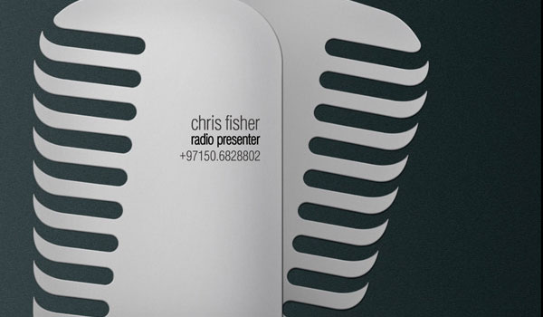 microphone 30 Outstanding New Business Cards