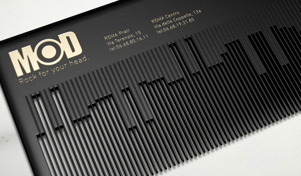 musical comb businesscard 30 Outstanding New Business Cards