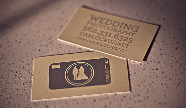 wedding photography business card 30 Outstanding New Business Cards