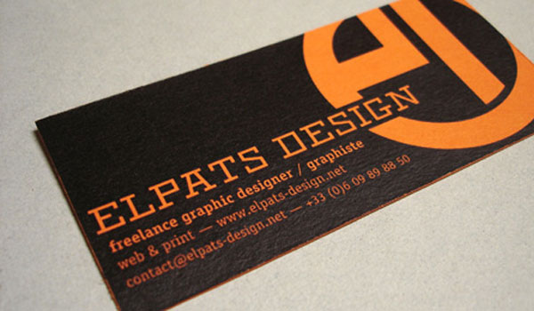 30 Lovely Orange Business Cards - SloDive