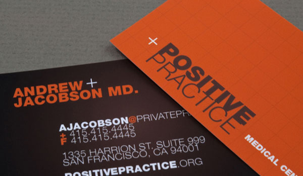 30 lovely orange business cards slodive medical center business card reheart Image collections