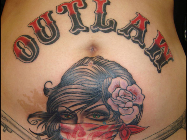 Belly Outlaw Tattoo