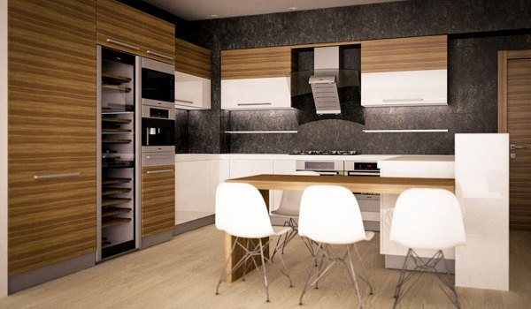 Modern Woody Kitchen