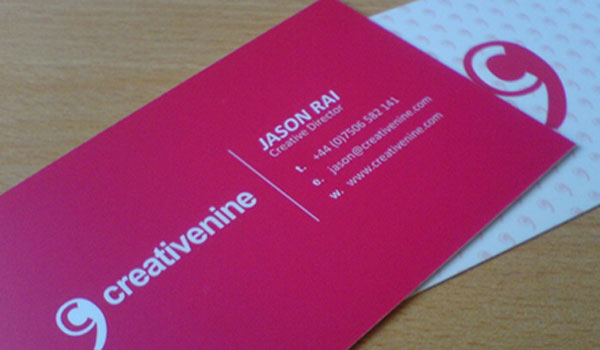 30 sweet pink business cards slodive creativenine business card reheart Gallery