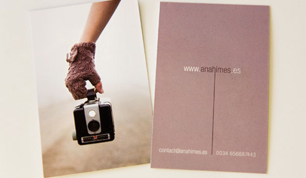 ana himes 30 Purple Business Cards For Your Inspiration