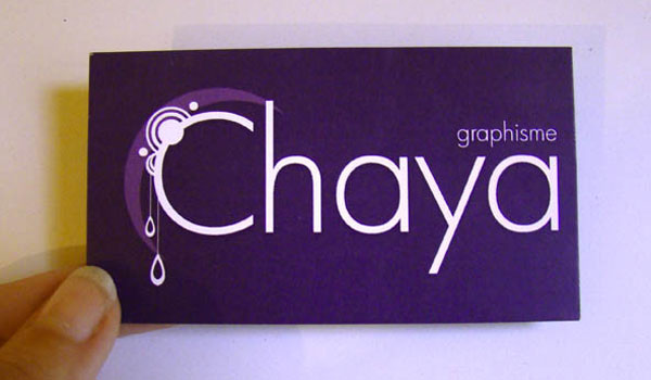 Chaya Business Card