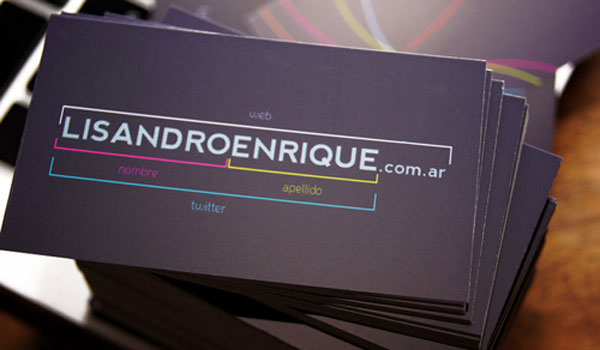 lisandro enrique 30 Purple Business Cards For Your Inspiration