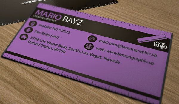 30 purple business cards for your inspiration slodive renovator business card colourmoves Image collections