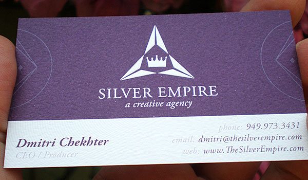 30 purple business cards for your inspiration slodive silver empire colourmoves Image collections