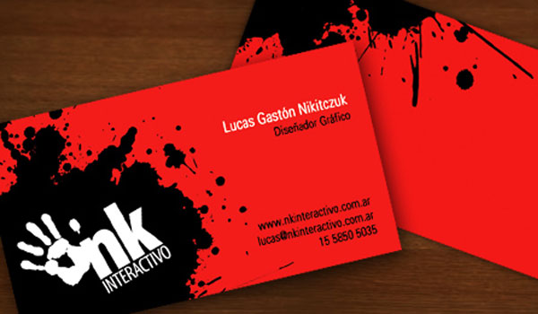 30 exciting red business cards slodive nk interactivo colourmoves Images