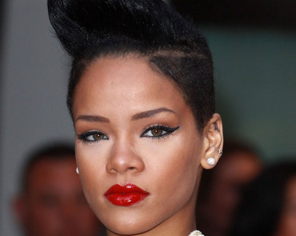 Rihanna High Scultped Hairstyle