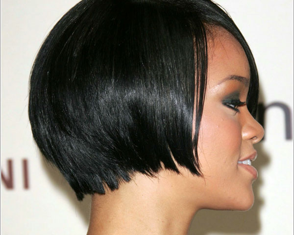 Short Black Rihanna Hairstyle
