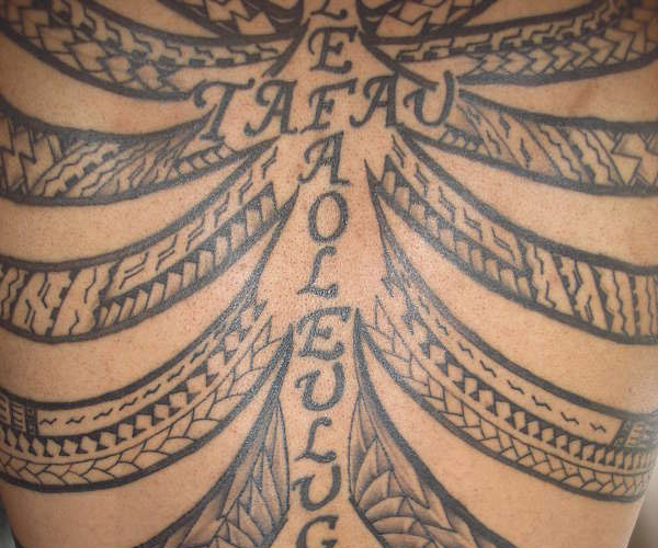 samoan wings 25 Marvelous Samoan Tattoos