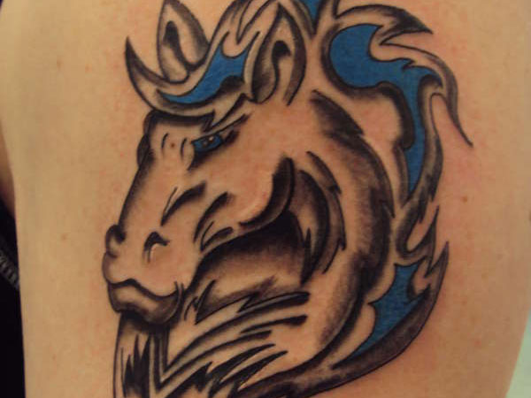 bicep tattoo 20 Fantastic Stallion Tattoo Designs