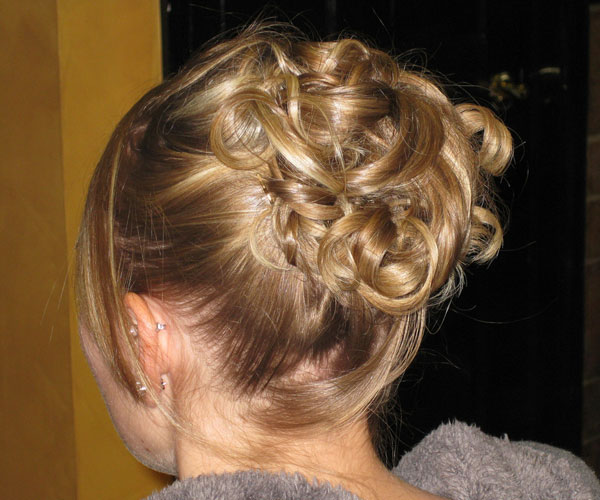 prom ready updo 30 Magnificent Updos For Medium Hair