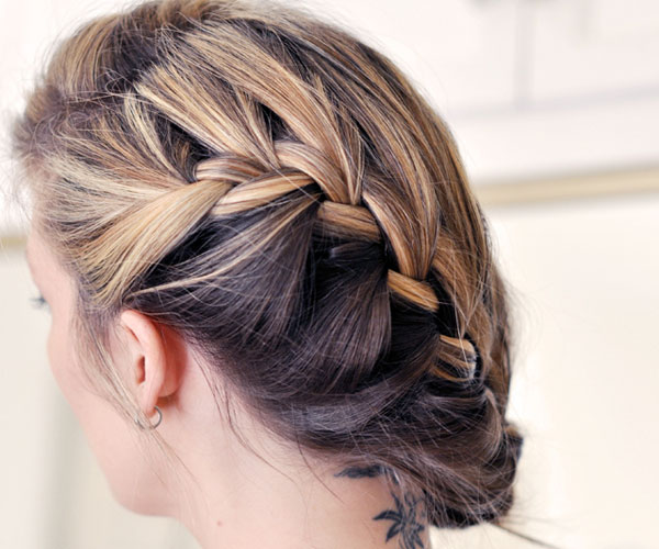 side french braid hair 30 Magnificent Updos For Medium Hair