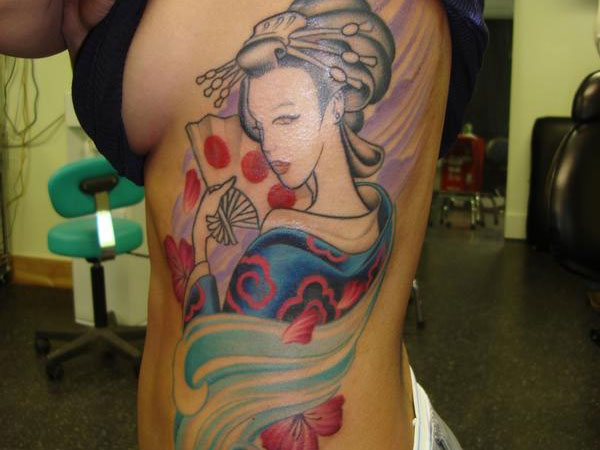 Girl Rib Tattoo