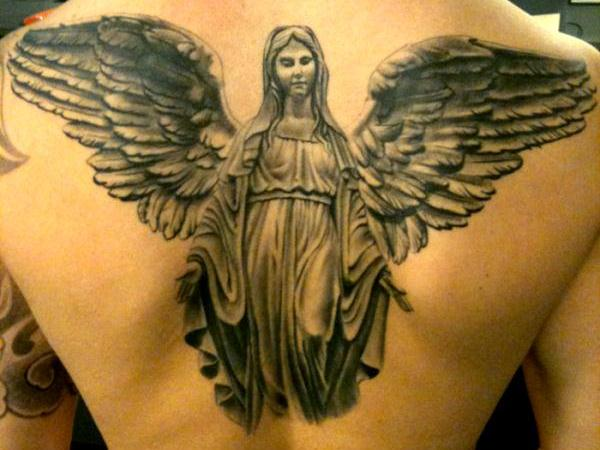 Angel Mary Tattoo
