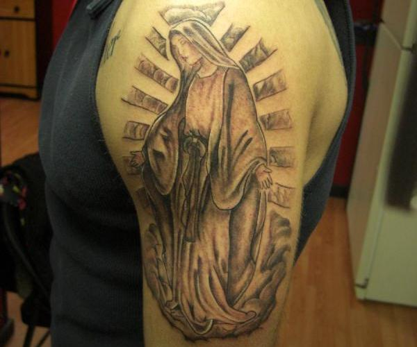 Traditional Mary Tattoo