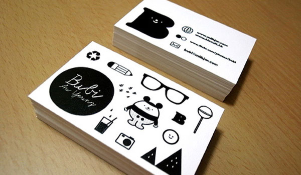 bubi au yeung 30 Marvelous White Business Cards