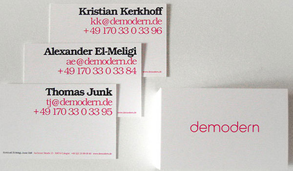 demodern 30 Marvelous White Business Cards