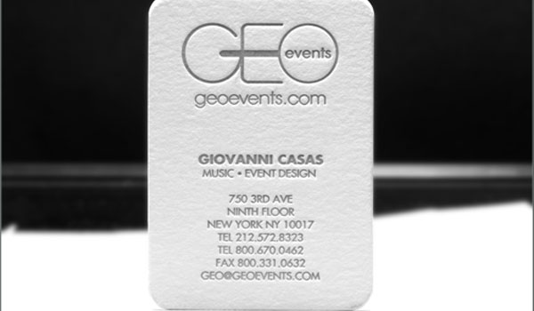 Geo Events Business Cards