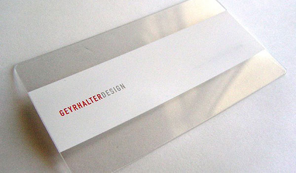 geyrhalter design 30 Marvelous White Business Cards
