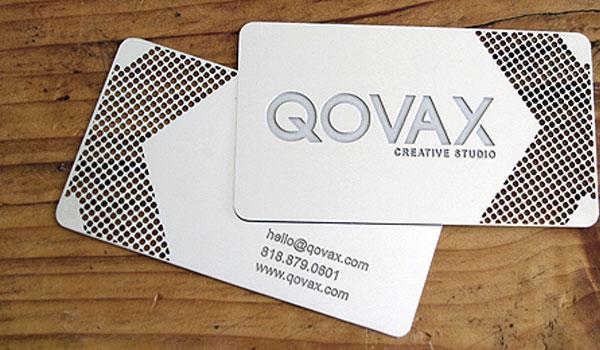 qovax creative studio 30 Marvelous White Business Cards