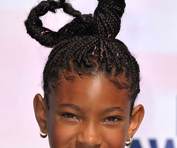 Willow Smith Plaited Hairstyle