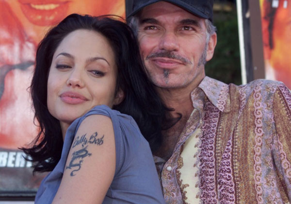 ex husband name 20 Sexy Angelina Jolie Tattoos