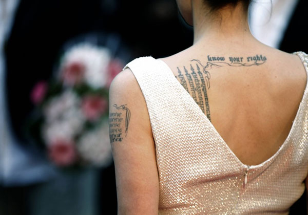 know your rights 20 Sexy Angelina Jolie Tattoos