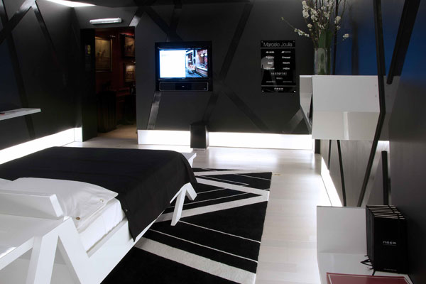 Black And White Theme Decor. 30 Groovy Black And White Bedroom Ideas   SloDive