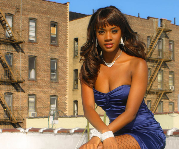 blue dress 30 Beautiful Black Girl Hairstyles