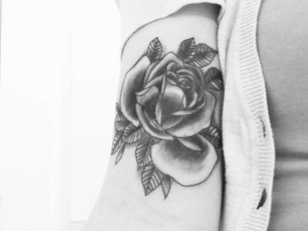 traditional rose 30 Exotic Black Rose Tattoo Designs
