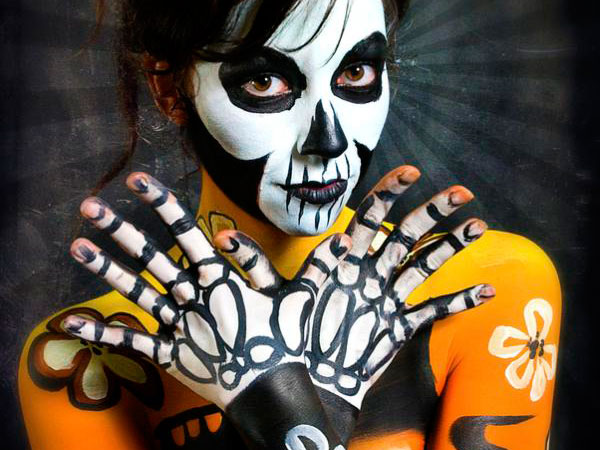 voodoo body paint 40 Perfect Body Painting on Female Persons