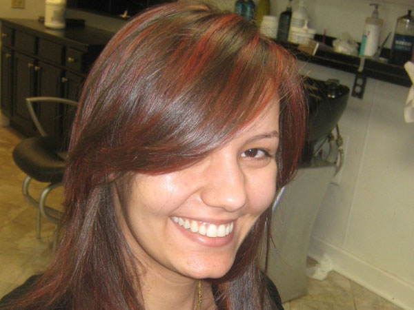 brown hair red highlight 40 Striking Brown Hair With Highlights