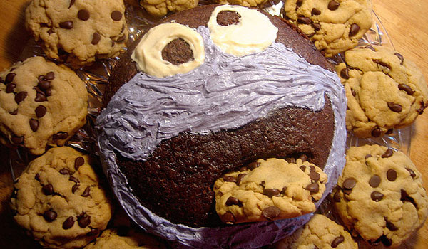 chocolate cake monster 25 Cool Cookie Monster Pictures
