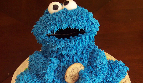 sculpted cake 25 Cool Cookie Monster Pictures