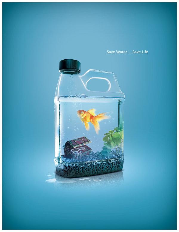 save water poster 35 Creative Advertisement Posters For Your Inspiration