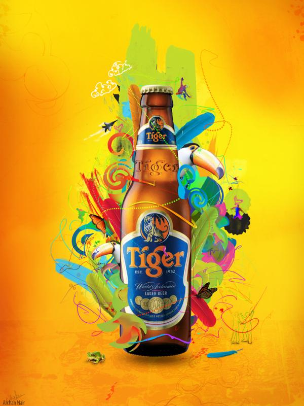 tiger beer 35 Creative Advertisement Posters For Your Inspiration