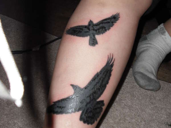 crows 25 Wonderful Crow Tattoo Collection